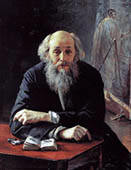 N.Yaroshenko. Portrait of the Artist Nikolai Ghe. 1890